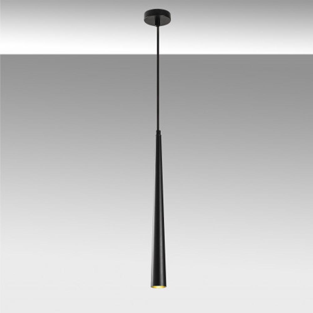 LED moderne hanglamp zwart 3 watt 2700K - sfeerfoto