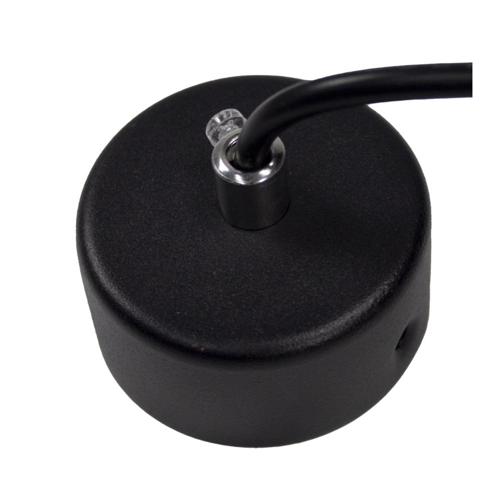 LED Hanglamp zwart - met GU10 fitting - langwerpig - modern - dimbaar - montageplaat
