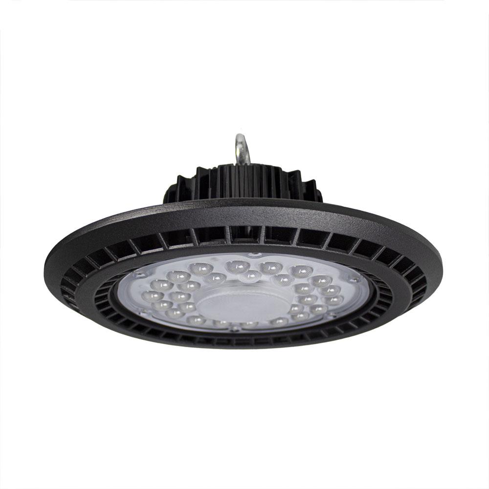 LED High bay inclusief ophangsysteem zwart 100 Watt - vooraanzicht