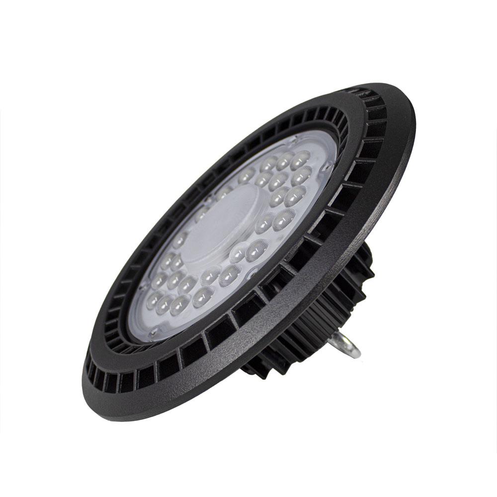 LED High bay inclusief ophangsysteem zwart 100 Watt - zijaanzicht