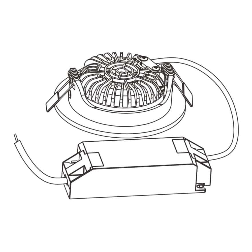 LED Inbouw spot RVS - Dimbaar - kantelbaar - lage inbouw - 75mm - warm wit - 2200K - 2700K - 3000K - incl. Driver