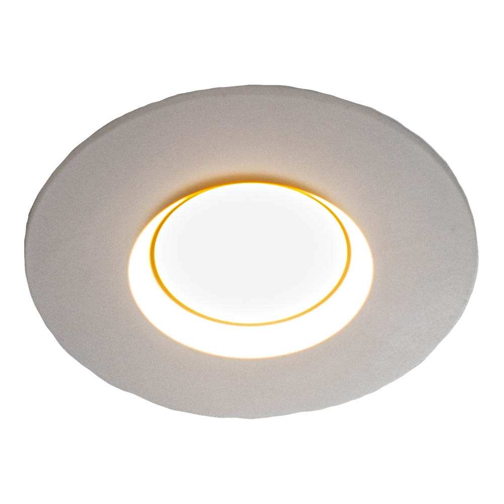 LED Inbouw spot - rond - WIT - IP44 waterdicht - lage inbouw - 70mm - 2700K warm wit