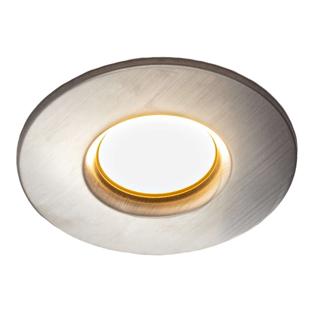 LED Inbouw spot warm wit - 6,5 watt - RVS look - 70mm zaagmaat - lage inbouw