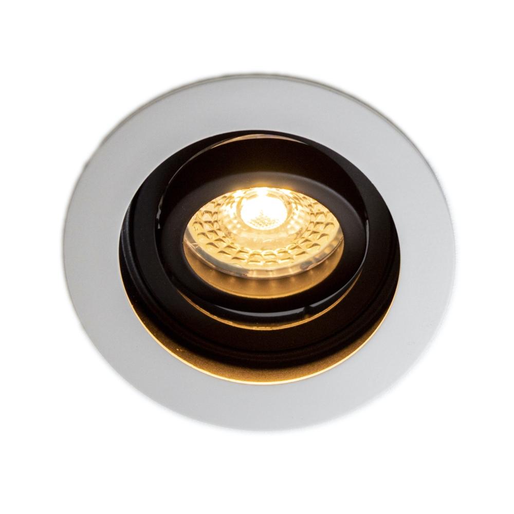 LED Inbouwspot wit 5,5W | rond | Moskou | Dimbaar | 2700K - Warm Wit - brandend