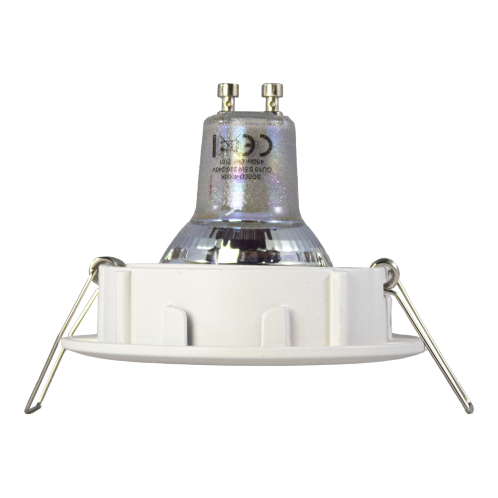 LED Inbouwspots WIT - zonder klemveer - dimbaar - 2700K - verdiept - kantelbaar - rond - zijaanzicht