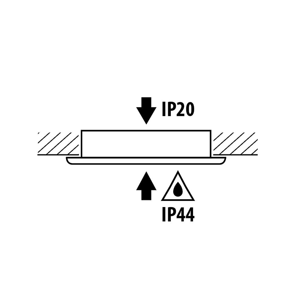 LED kastverlichting inbouwspot zilver RVS 3 Watt - ipwaarde