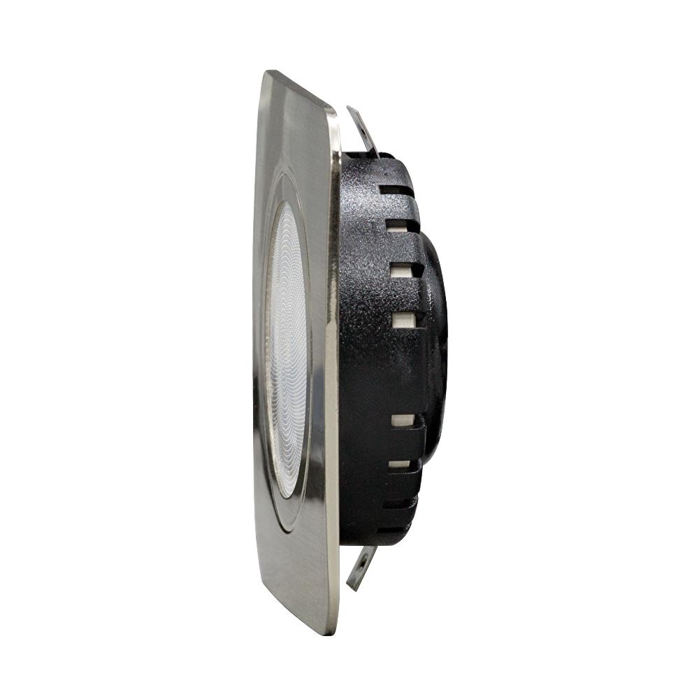 LED kastverlichting inbouwspot zilver RVS 3 Watt - zijaanzicht
