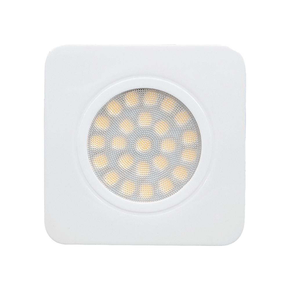 LED kastverlichting inbouwspot zilver wit 3 Watt - vooraanzicht
