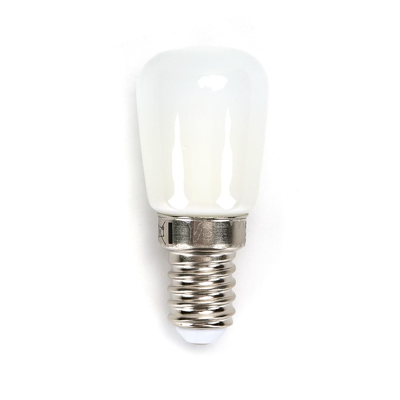 Led koelkast lamp kleine E14 fitting 4 Watt 3000K vooraanzicht lampje