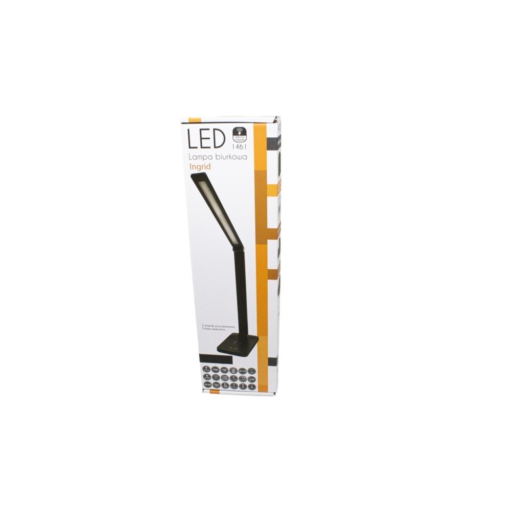 LED Moderne Bureaulamp 7 Watt - Draadloos opladen - Dimbaar - 2700K-6000K Zwart - Warm wit