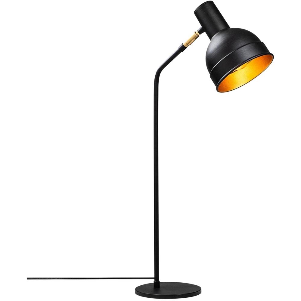 LED Moderne Tafellamp - Zwart - Goud - E27 fitting - Milo - vooraanzicht