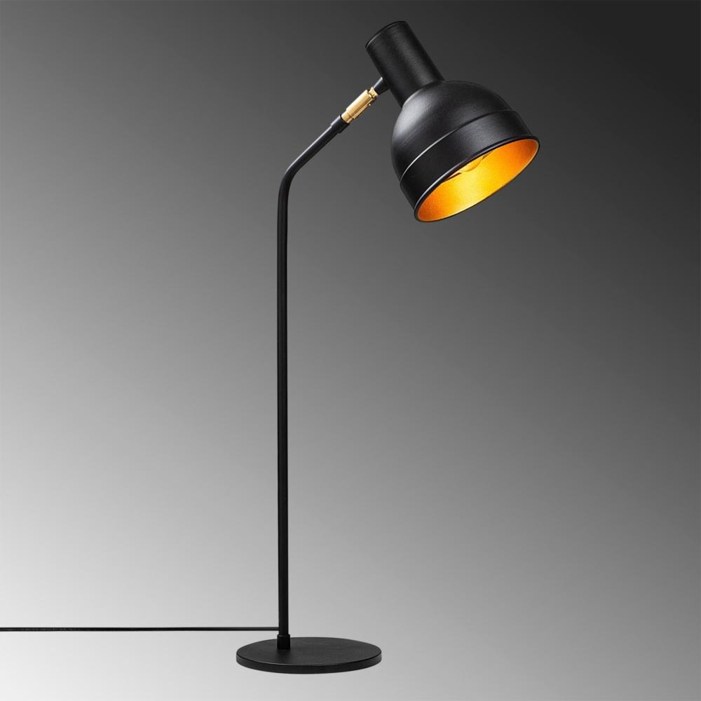 LED Moderne Vloer - Tafellamp - Zwart - Goud - E27 fitting - Milo - sfeerfoto