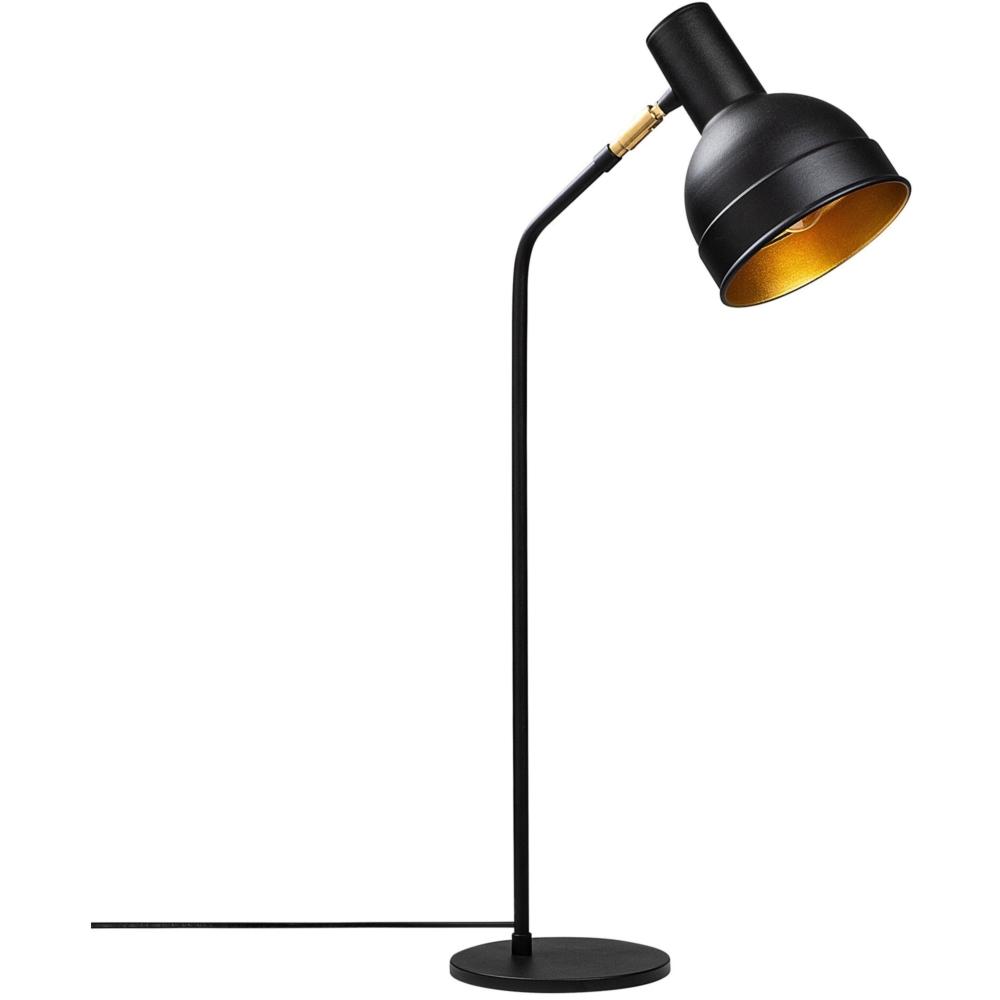 LED Moderne Vloer - Tafellamp - Zwart - Goud - E27 fitting - Milo