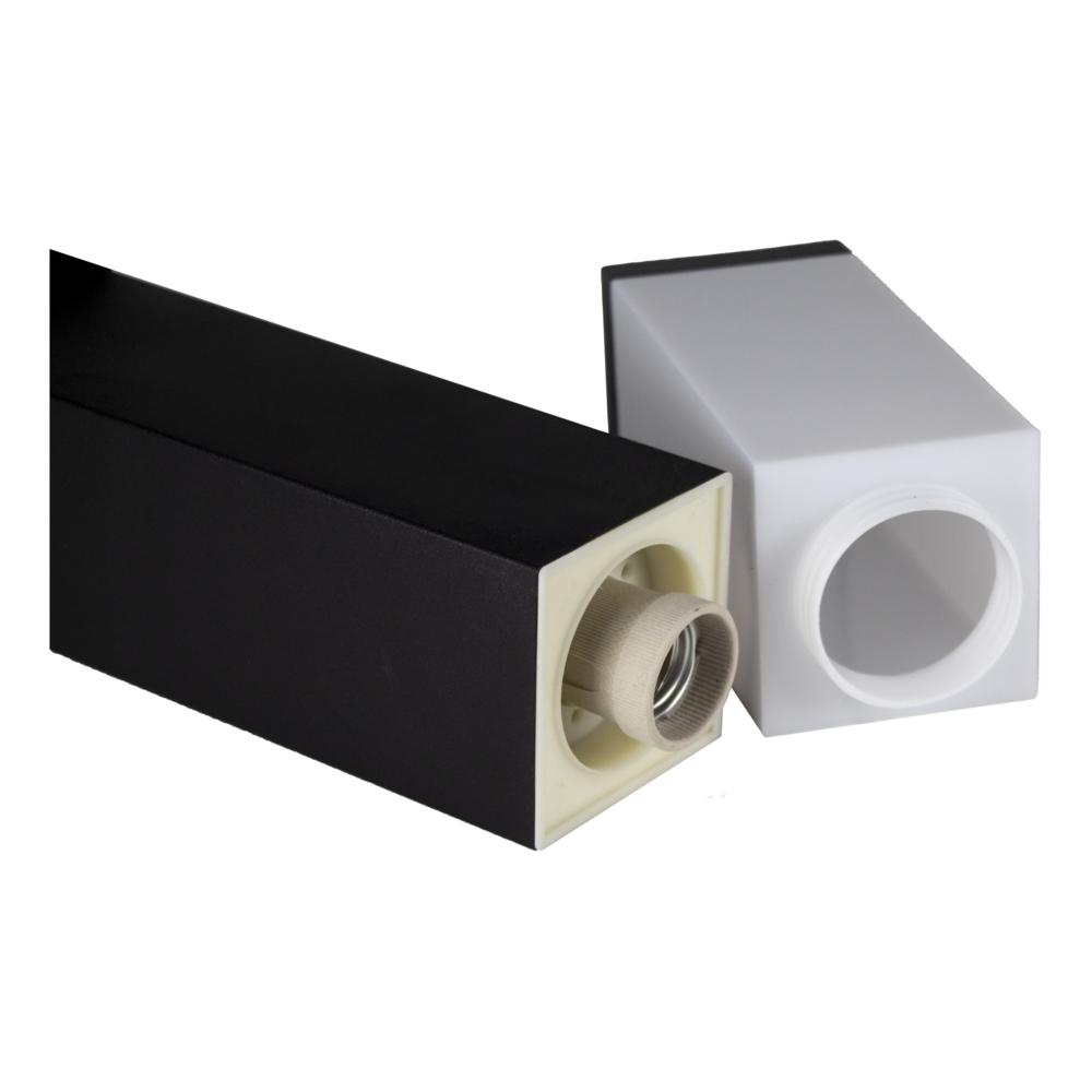 LED Moderne tuinpaal - zwart - staandelamp - dimbaar - 45cm - IP44 - E27 fitting - binnenkant