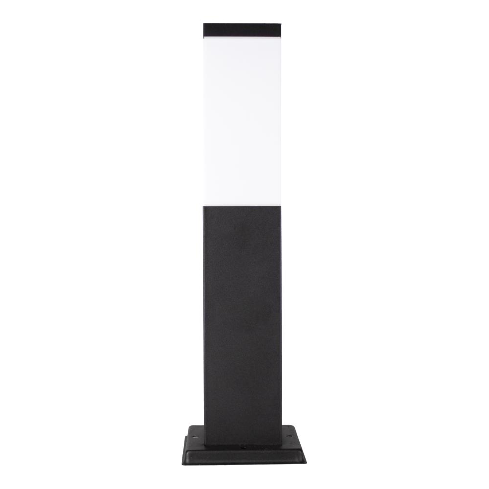 LED Moderne tuinpaal - zwart - staandelamp - dimbaar - 45cm - IP44 - E27 fitting - voorkant