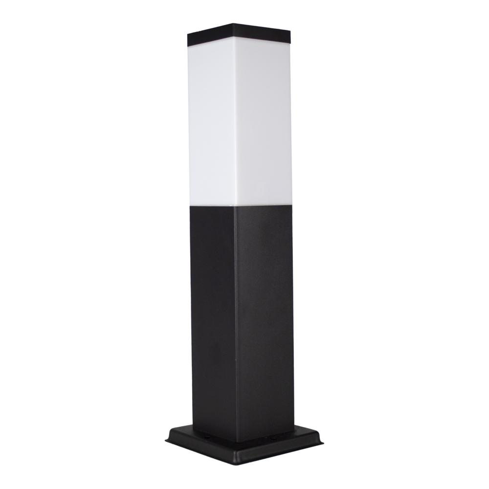 LED Moderne tuinpaal - zwart - staandelamp - dimbaar - 45cm - IP44 - E27 fitting - zijaanzicht