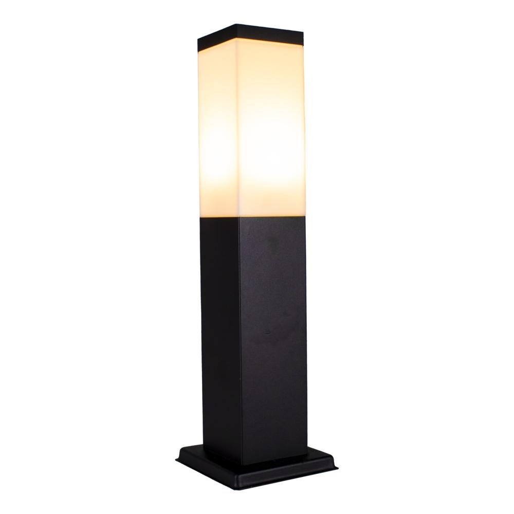 LED Moderne tuinpaal - zwart - staandelamp - dimbaar - 45cm - IP44 - Warm wit