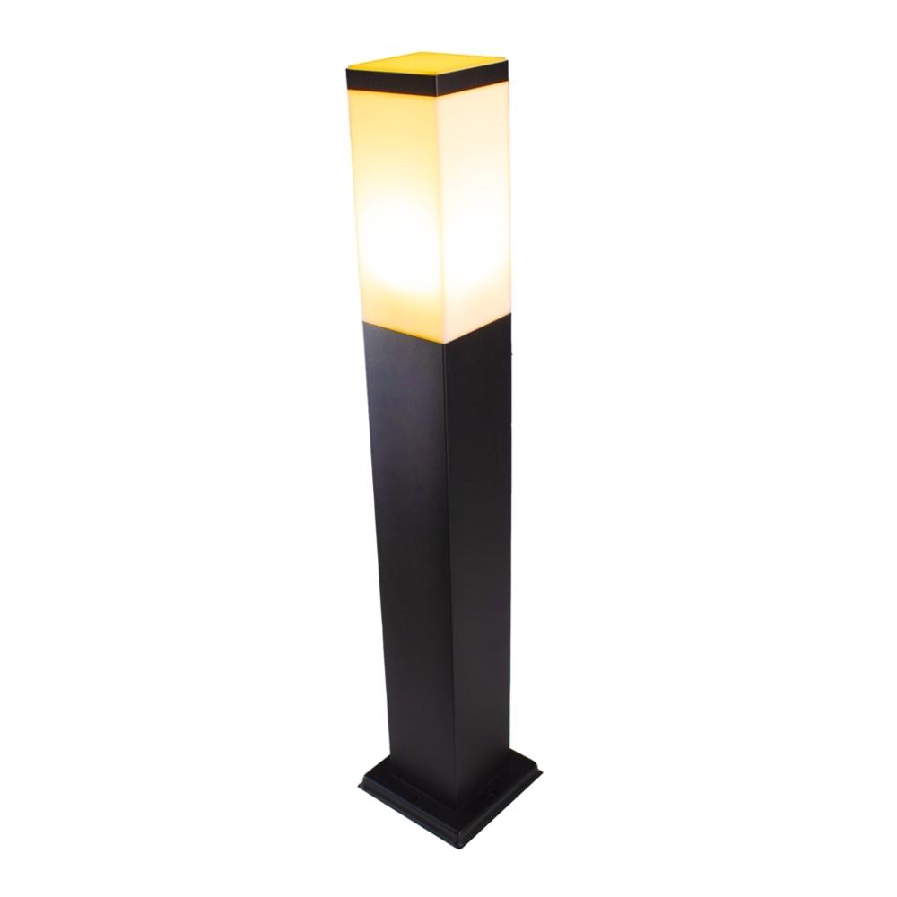LED Moderne tuinpaal - zwart - staandelamp - dimbaar - 65cm - IP44 - E27 fitting - Warm wit