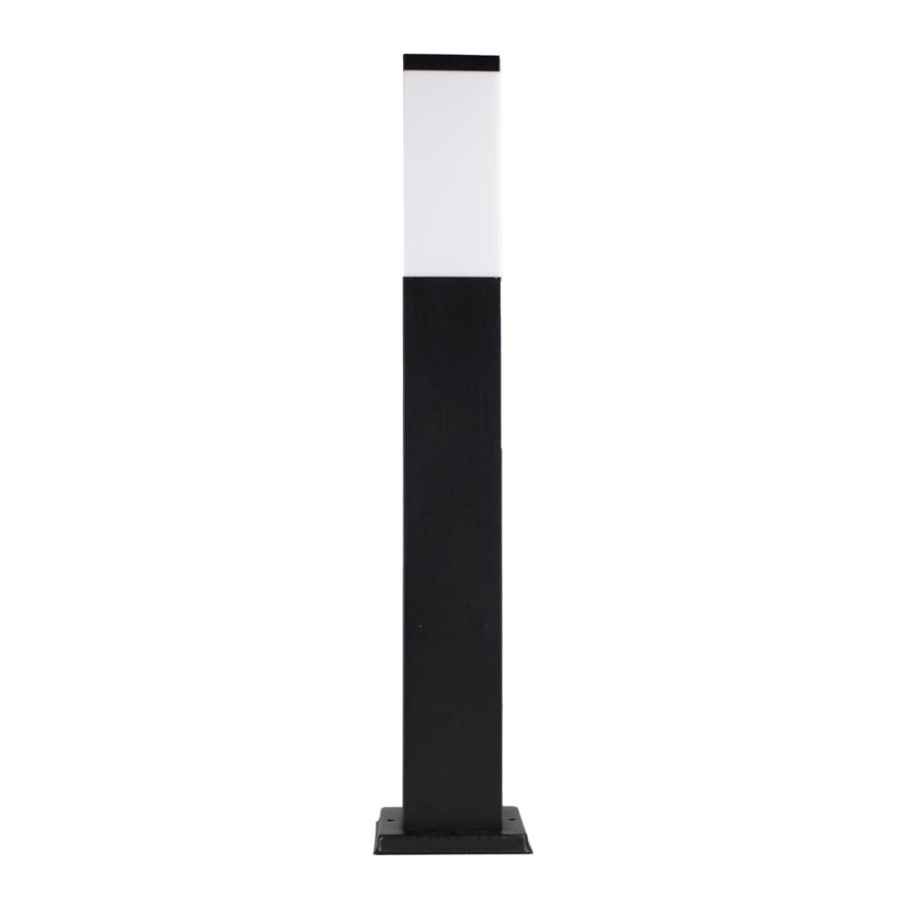 LED Moderne tuinpaal - zwart - staandelamp - dimbaar - 65cm - IP44 - E27 fitting - Warm wit - voorkant