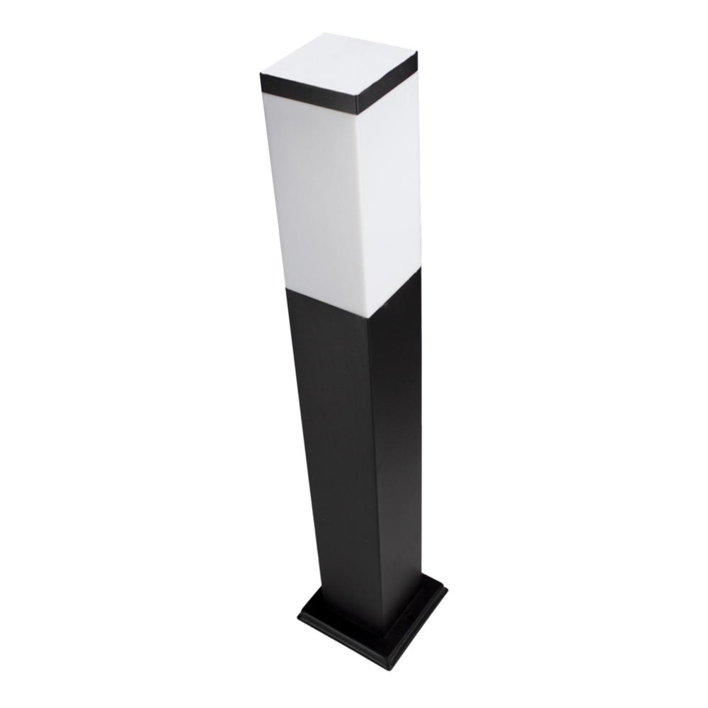 LED Moderne tuinpaal - zwart - staandelamp - dimbaar - 65cm - IP44 - E27 fitting - bovenaanzicht