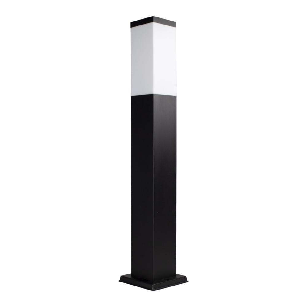 LED Moderne tuinpaal - zwart - staandelamp - dimbaar - 65cm - IP44 - E27 fitting - zijaanzicht