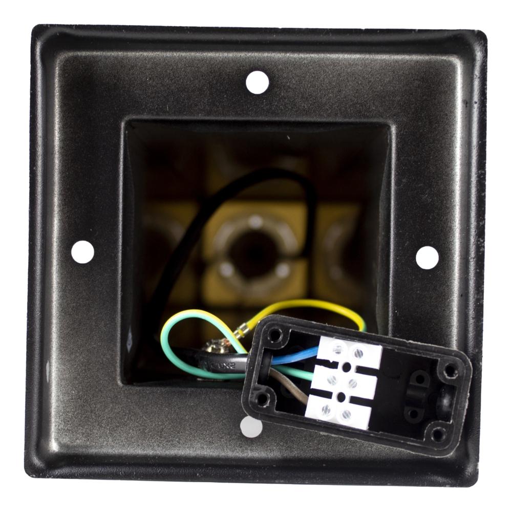 LED Moderne tuinpaal - zwart - staandelamp - netstroom aansluiting - IP44 lasdoos