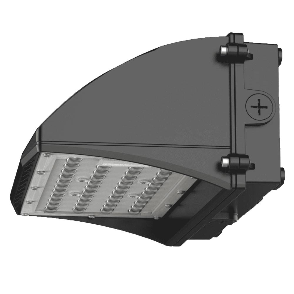 LED Wandlamp magazijn - Muurlamp industrieel - Wall pack - 30W - 5000K - zijaanzicht