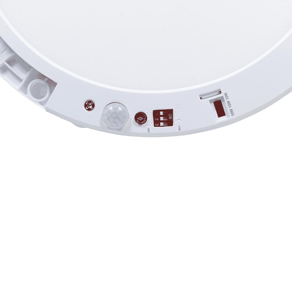 LED Opbouw downlight - plafondlamp met dag en nacht en bewegingssensor - wattage instelbaar 2