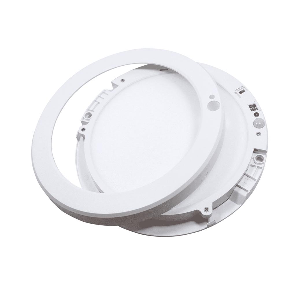 LED Opbouw downlight - plafondlamp met dag en nacht en bewegingssensor - wattage instelbaar - 3000K - 4000K