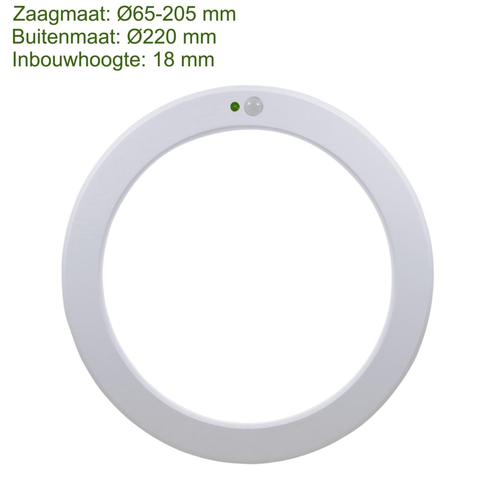 LED Opbouw downlight - plafondlamp met dag en nacht en bewegingssensor - wattage instelbaar