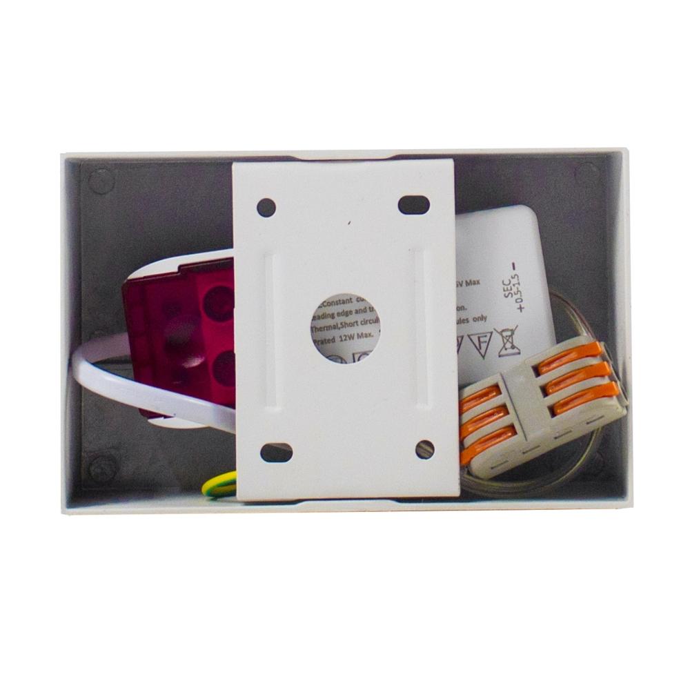 LED Opbouwspot AR111 - enkel - WIT - Dimbaar - kantelbaar - Dim to warm - 2200K -3000K - bovenkant