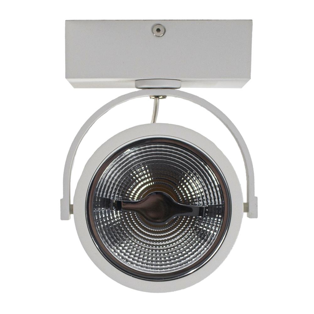 LED Opbouwspot AR111 - enkel - WIT - Dimbaar - kantelbaar - Dim to warm - 2200K -3000K - voorkant