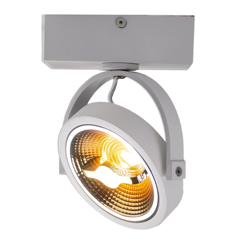 LED Opbouwspot AR111 - enkel - WIT - Dimbaar - kantelbaar - Dim to warm - 2200K