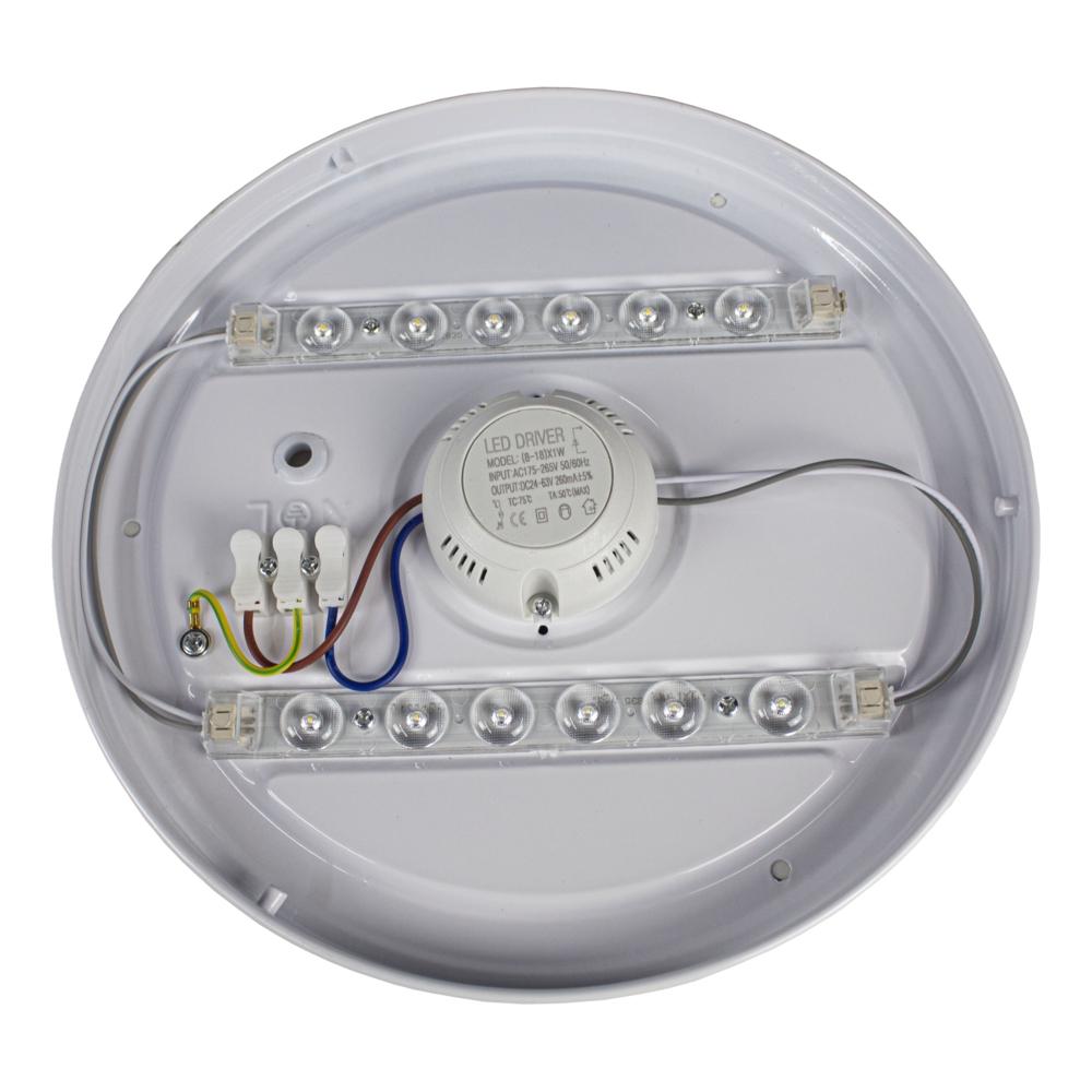 LED Plafondlamp 12 watt - 4000K naturel wit - modern - ERIK - binnenkant