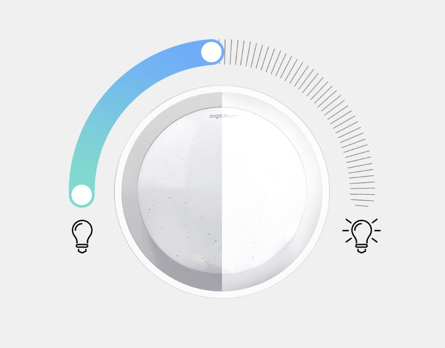 LED Plafondlamp met zilver rand dimbaar 30W en 60W CCT Kleurwissel - dimbaarheid