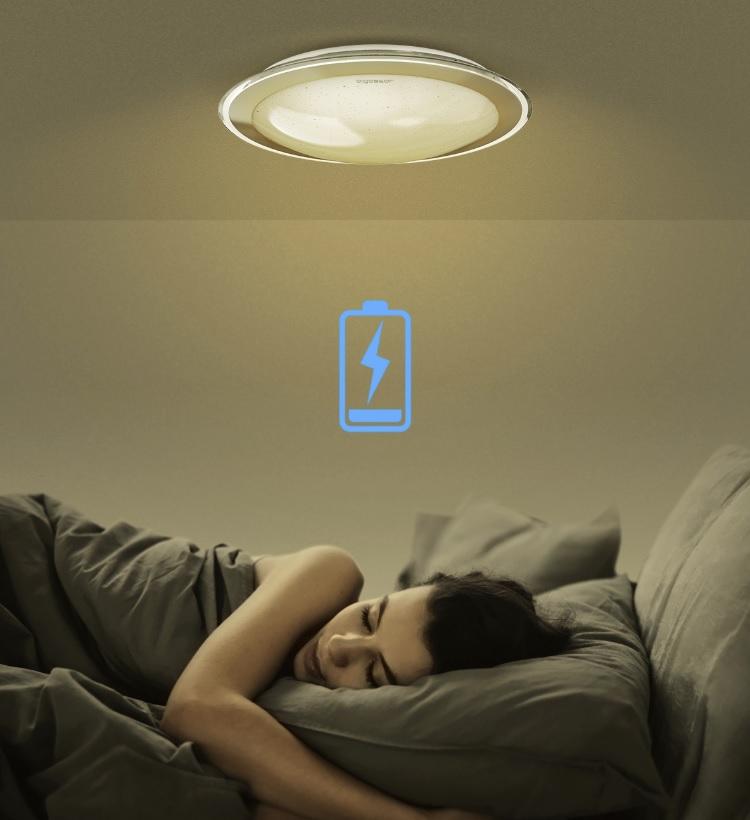 LED Plafondlamp met zilver rand dimbaar 30W en 60W CCT Kleurwissel - nachtstand