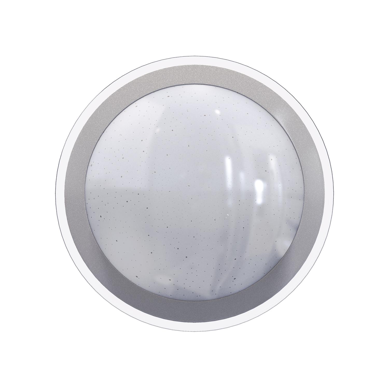 LED Plafondlamp met zilver rand dimbaar 30W en 60W CCT Kleurwissel