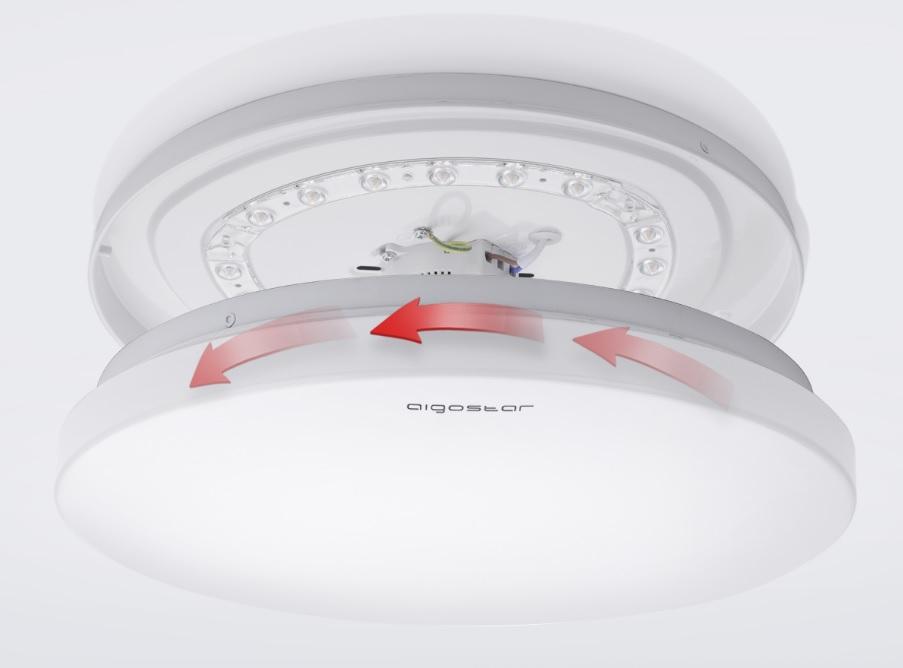 LED Plafondlamp rond wit - Flatline - 12W - 20W - 24W - montagefoto