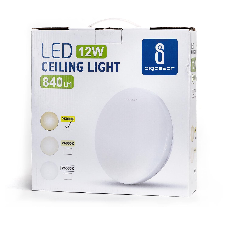 LED Plafondlamp rond wit - Flatline - 12W - 3000K - Warm wit