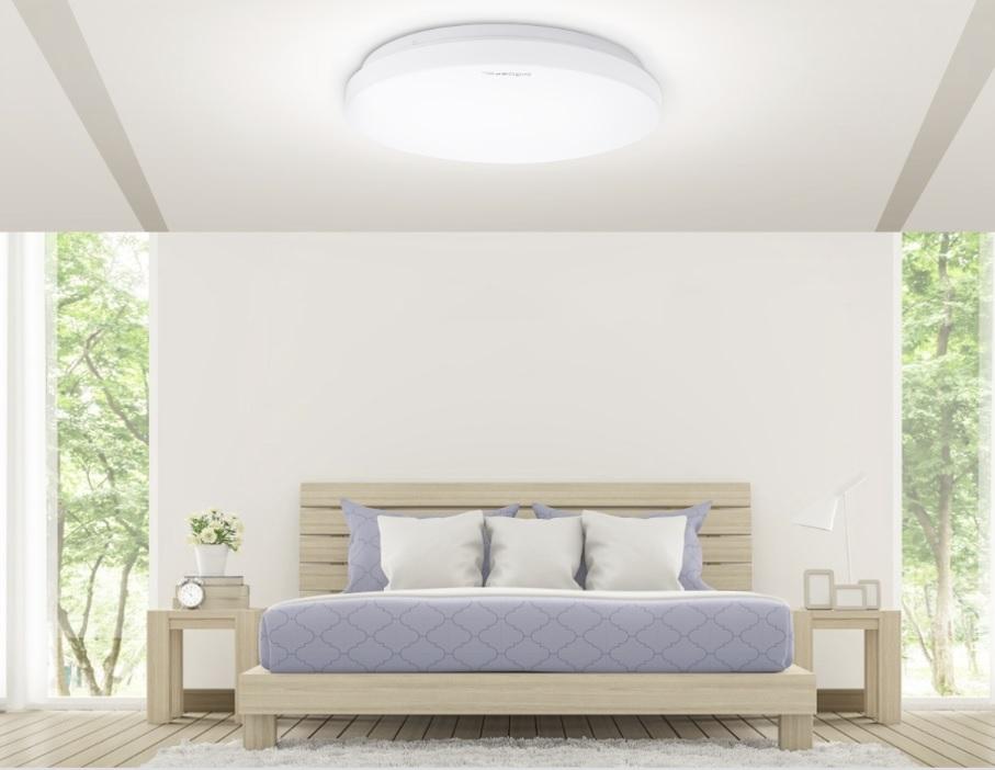 LED Plafondlamp rond wit - Flatline - 12W - 20W - 24W - sfeerfoto