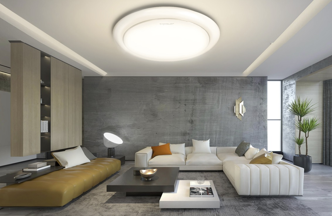 LED Plafond / ceiling lamp rond wit 12W - 20W - 24W - sfeer afbeelding