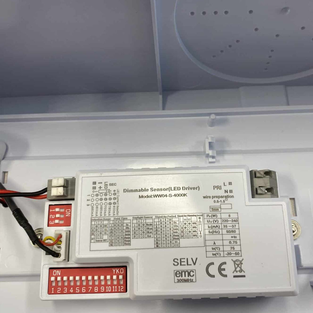 Led portiek armatuur IP65 4000K - naturel wit - sensor