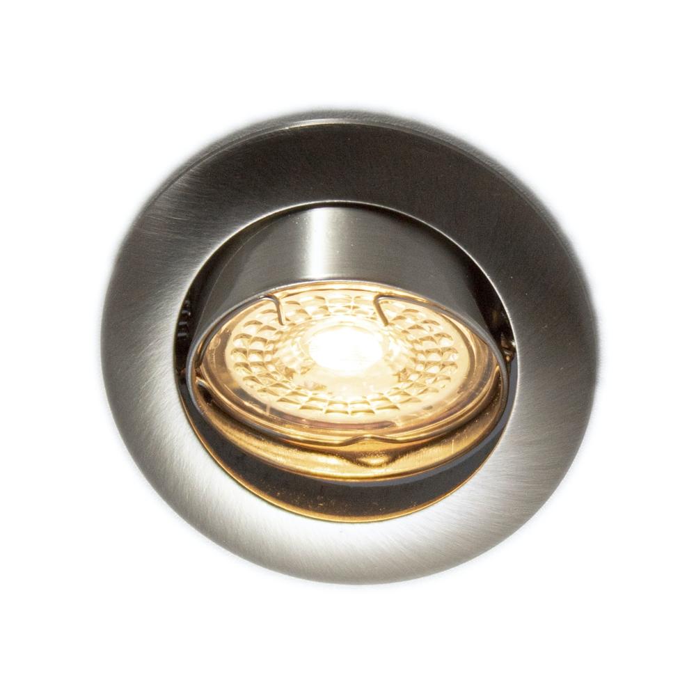 LED Inbouw spot RVS - dimbaar - kantelbaar - warm wit