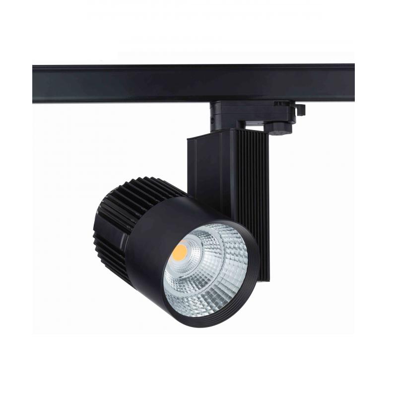 LED 3-fase railspot zwart 30W inclusief lichtbron