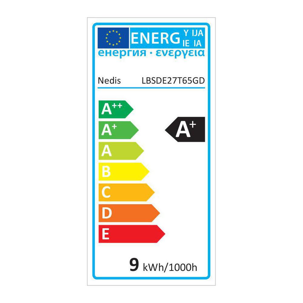 LED filament amber lamp 8,5 Watt 2000K - warm wit - energielabel