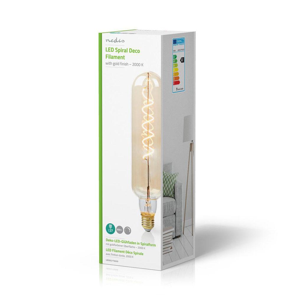 LED filament amber lamp 8,5 Watt 2000K - warm wit - verpakking