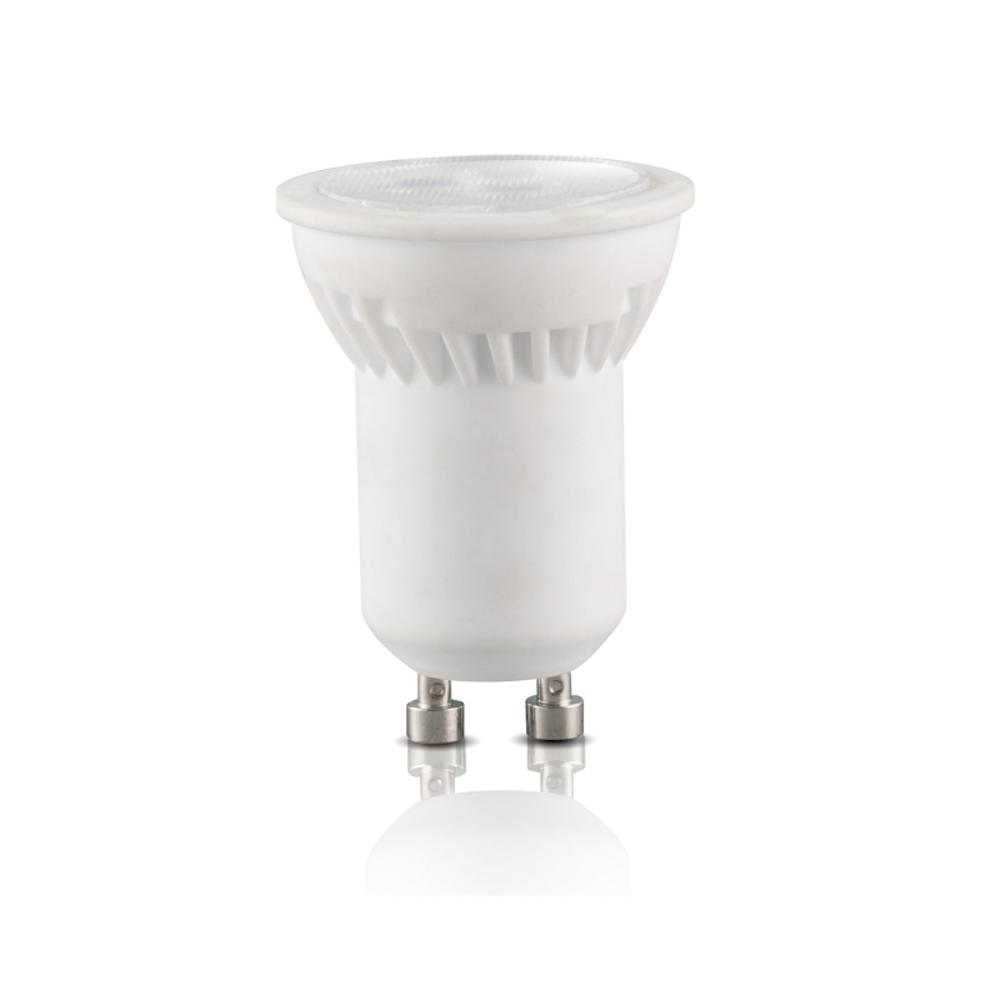LED GU10 spot mini 3000k warm wit niet dimbaar - vooraanzicht gu10 spot