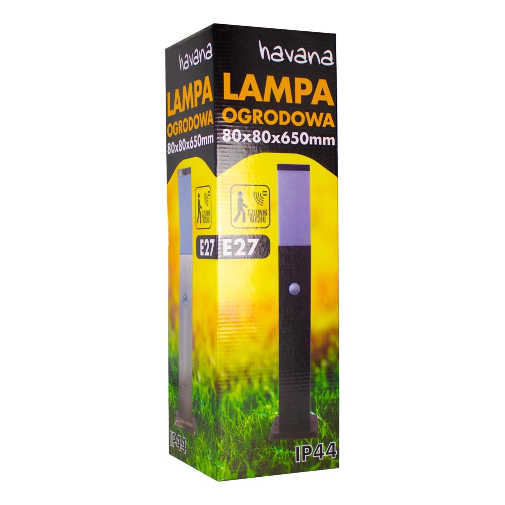 LED Staande buitenlamp met schermer en bewegingssensor - zwart - 45cm - IP44 - verpakking