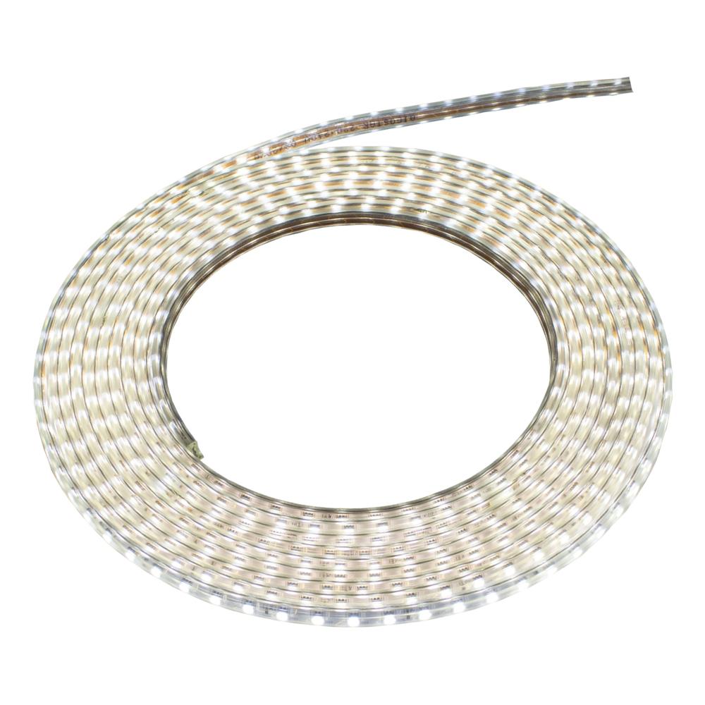 LED Strip 220-240V - 10 meter rol - dimbaar - 60 LED_s per meter - 6500K Daglicht wit - bovenaanzicht