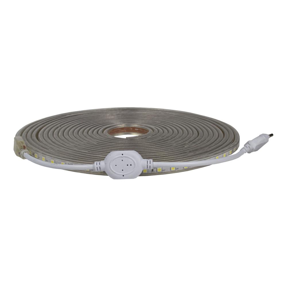 LED Strip 220-240V - Dimbaar - 10 meter rol - 3000K warm wit - compleet - vooraanzicht